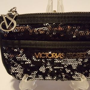 Victoria's Secret Black Sequin Wallet